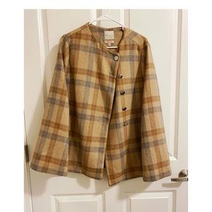 The Limited Plaid Cape Coat